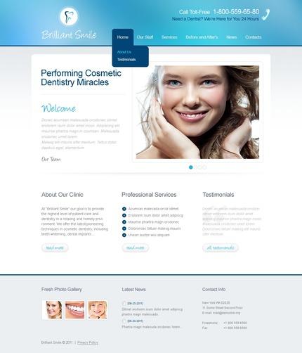 PSD макет сайта №57002