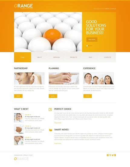 ADOBE Photoshop Template 57003 Home Page Screenshot