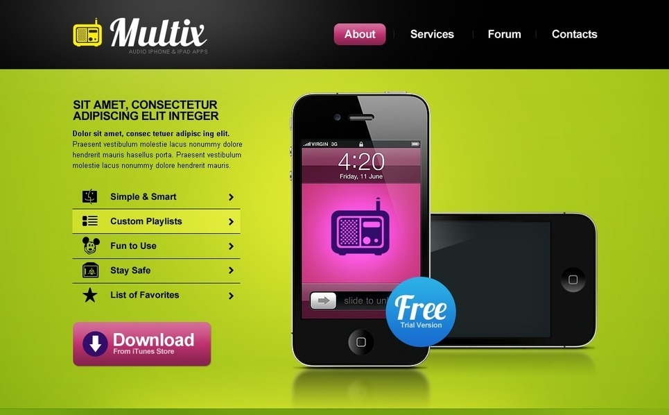 PSD šablona Prodejna mobilních telefonů New Screenshots BIG