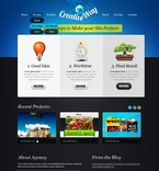 Web design PSD  Template 57016