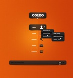 Web design PSD  Template 57020