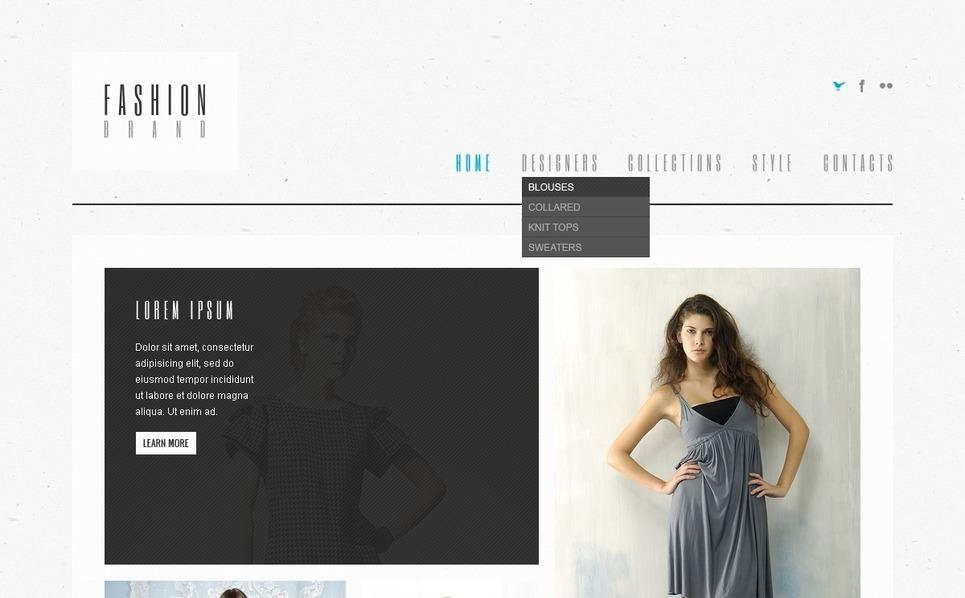 PSD Template over Modewinkel New Screenshots BIG