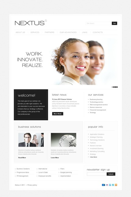 ADOBE Photoshop Template 57025 Home Page Screenshot
