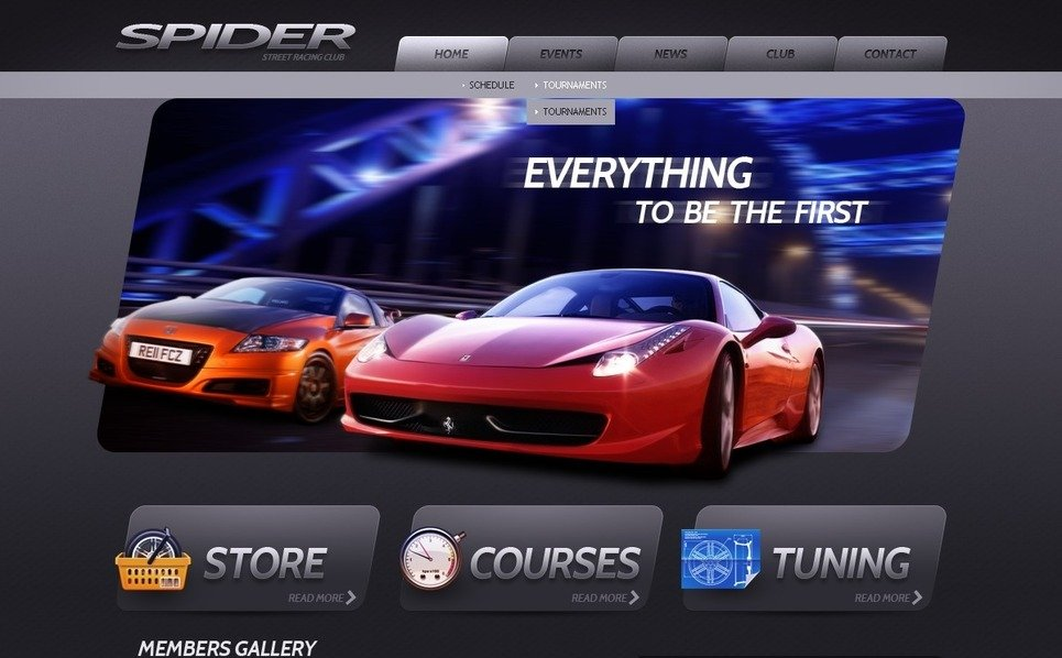 Modello PSD  #57026 per Un Sito di Club Automobilistico New Screenshots BIG