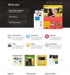 Web design PSD  Template 57029