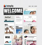 Web design PSD  Template 57032