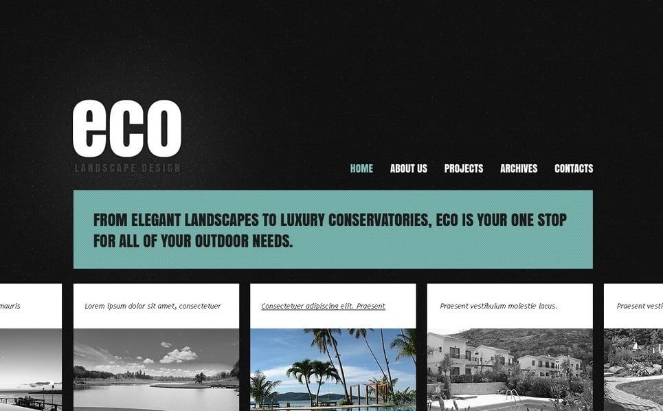 Modèle PSD  pour site de design paysager New Screenshots BIG