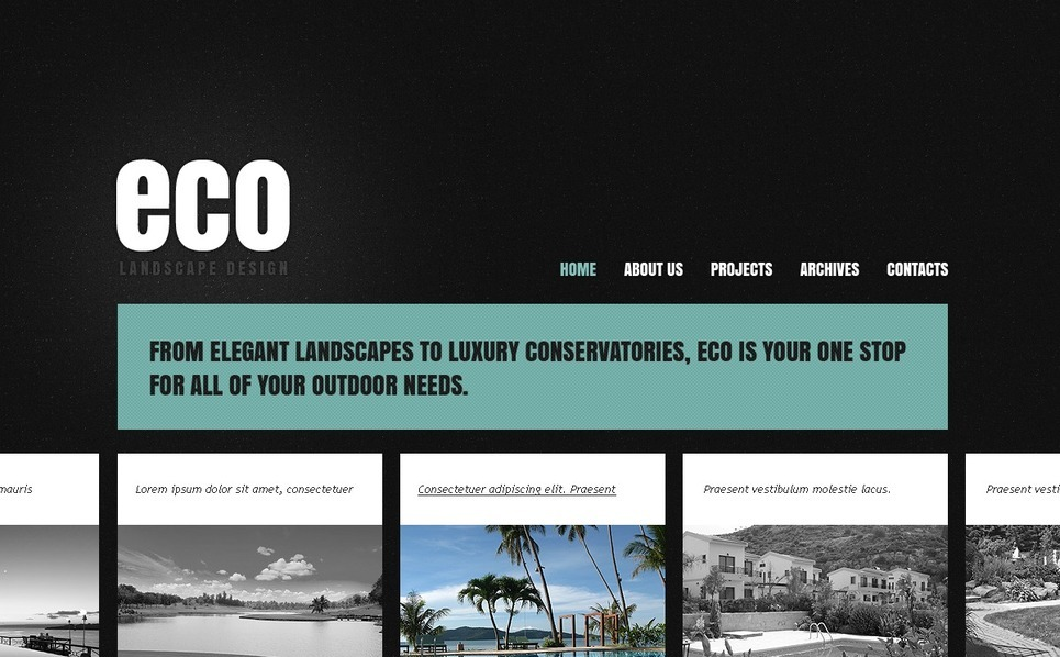 Szablon PSD #57034 na temat: architektura krajobrazu New Screenshots BIG