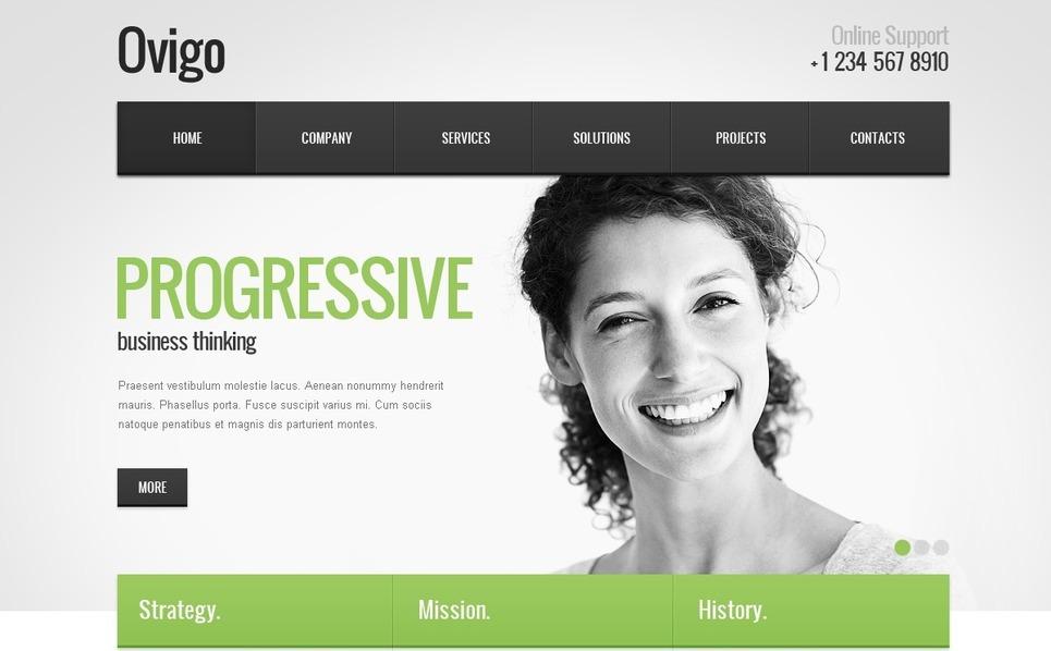 Szablon PSD #57035 na temat: biznes i usługi New Screenshots BIG