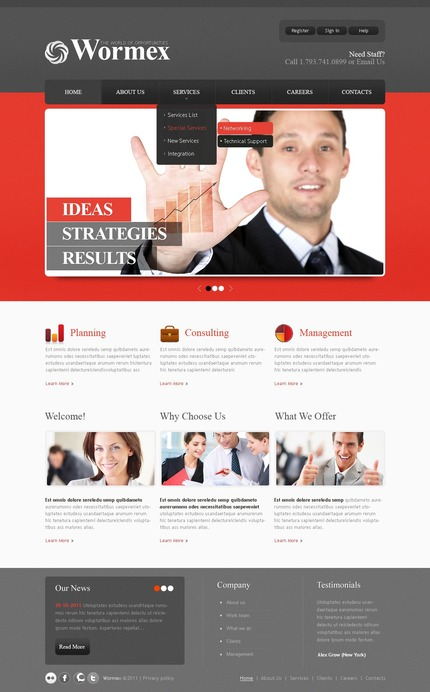 ADOBE Photoshop Template 57037 Home Page Screenshot