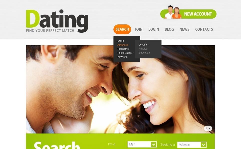 Szablon PSD #57038 na temat: randki New Screenshots BIG