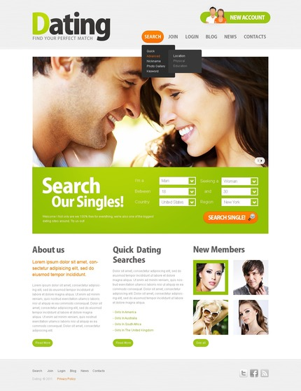 ADOBE Photoshop Template 57038 Home Page Screenshot