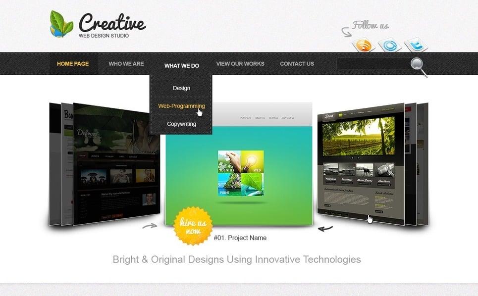 Plantilla PSD #57040 para Sitio de Diseño Web New Screenshots BIG
