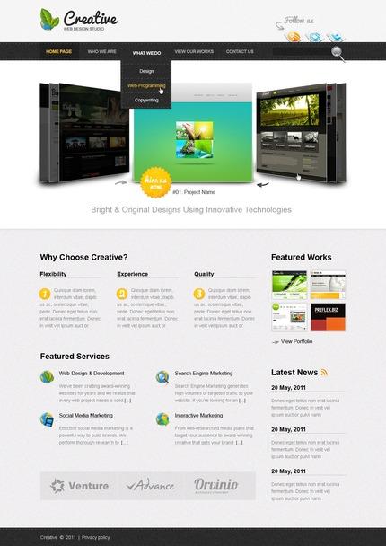 PSD макет сайта №57040