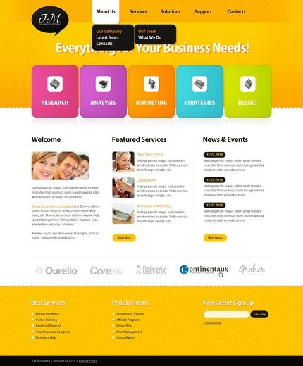 ADOBE Photoshop Template 57041 Home Page Screenshot