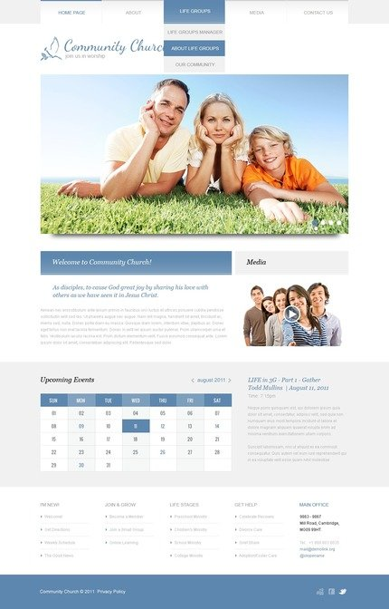 ADOBE Photoshop Template 57043 Home Page Screenshot