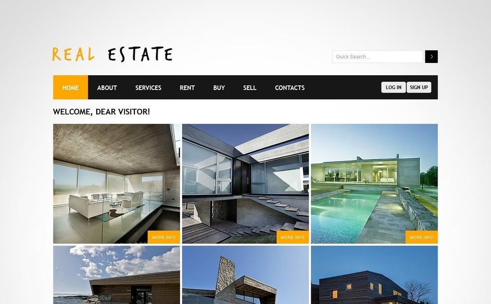 房地产网页PSD模板 New Screenshots BIG