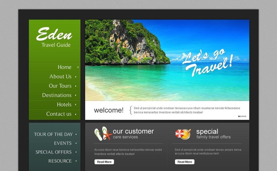 PSD шаблон на тему туристичний гід New Screenshots BIG