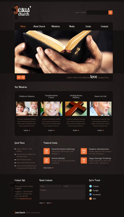 ADOBE Photoshop Template 57051 Home Page Screenshot