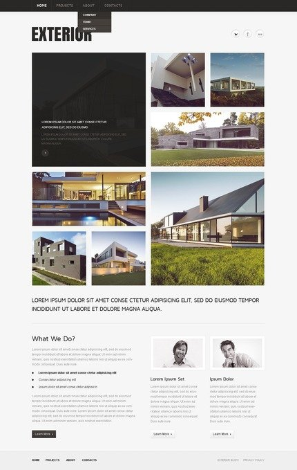 ADOBE Photoshop Template 57052 Home Page Screenshot