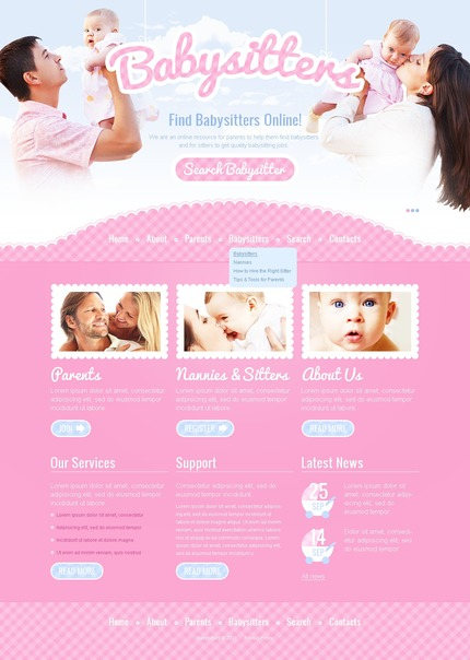 ADOBE Photoshop Template 57054 Home Page Screenshot