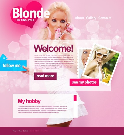 ADOBE Photoshop Template 57055 Home Page Screenshot
