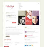 Dating PSD  Template 57057