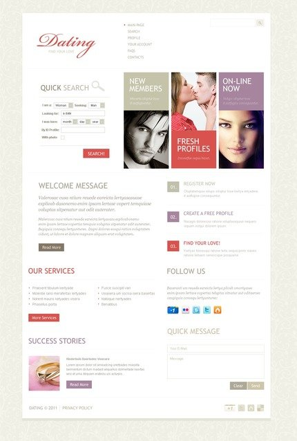 ADOBE Photoshop Template 57057 Home Page Screenshot