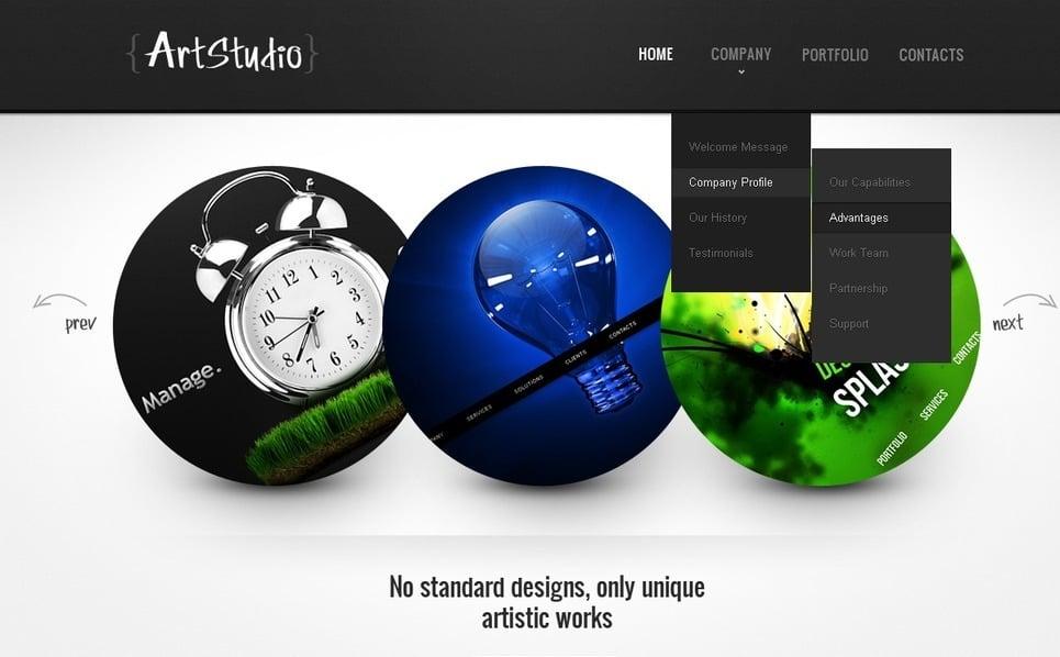 PSD шаблон №57058 на тему Шаблон сайтов веб-дизайна New Screenshots BIG
