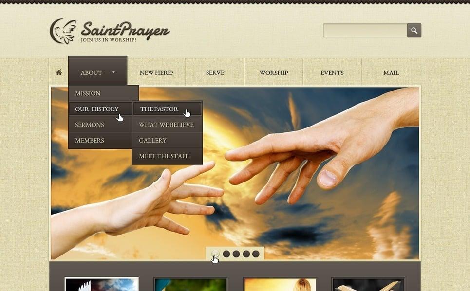 Plantilla PSD #57062 para Sitio de Religión New Screenshots BIG