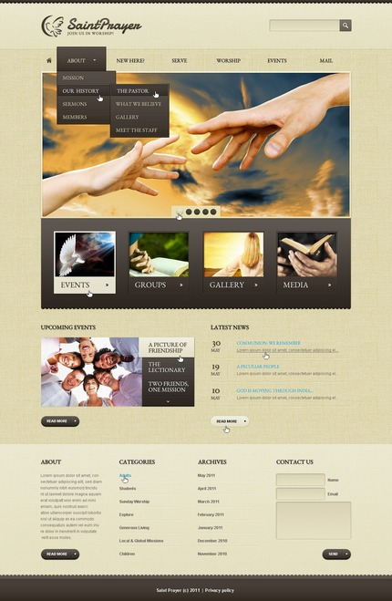 ADOBE Photoshop Template 57062 Home Page Screenshot