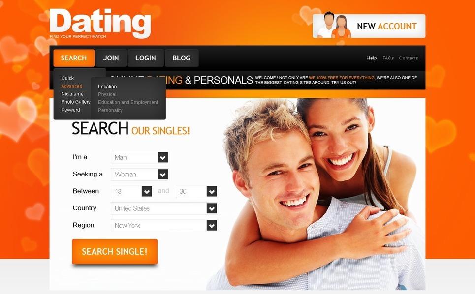 PSD Template over Dating  New Screenshots BIG