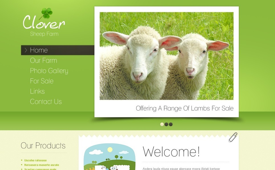 Szablon PSD #57066 na temat: gospodarstwo hodowli owiec New Screenshots BIG