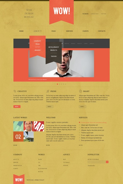 ADOBE Photoshop Template 57067 Home Page Screenshot