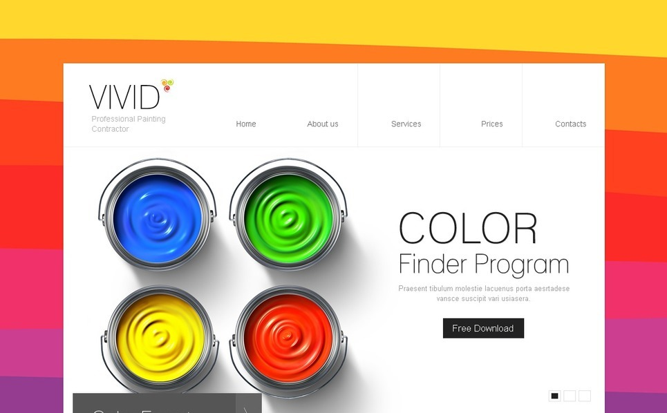 PSD шаблон на тему фарбування New Screenshots BIG