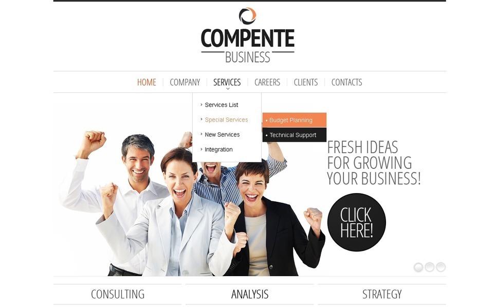 Modello PSD  #57077 per Un Sito di Business e Servizi New Screenshots BIG