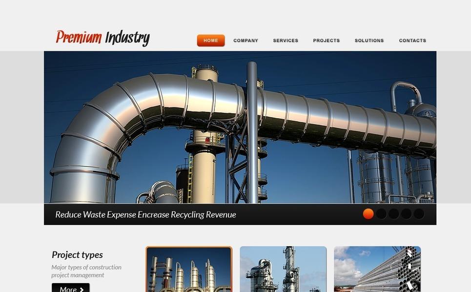 Szablon PSD #57079 na temat: przemysł New Screenshots BIG