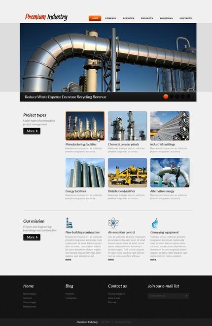 PSD макет сайта №57079