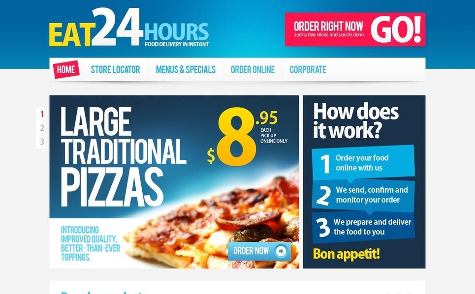 Tema PSD  #57081 per Un Sito di Pizza New Screenshots BIG