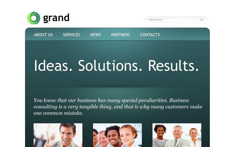 Plantilla PSD #57084 para Sitio de Consultoría New Screenshots BIG