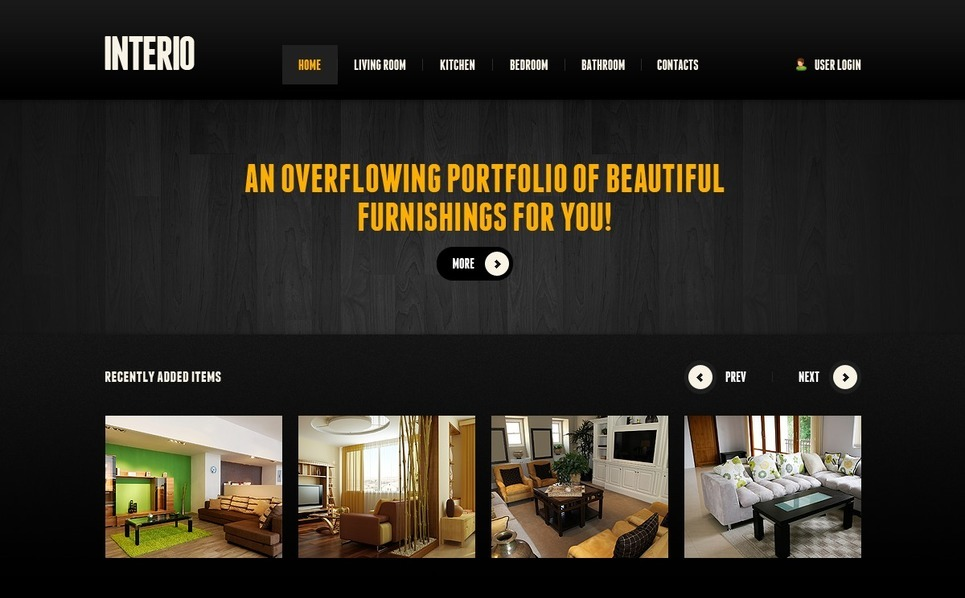 Plantilla PSD #57085 para Sitio de Diseño interior New Screenshots BIG