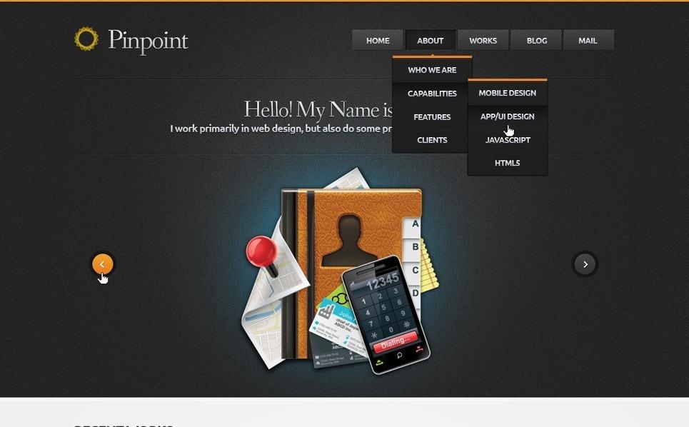 Modello PSD  #57086 per Un Sito di Design Studio New Screenshots BIG
