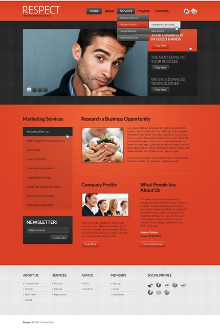 ADOBE Photoshop Template 57089 Home Page Screenshot