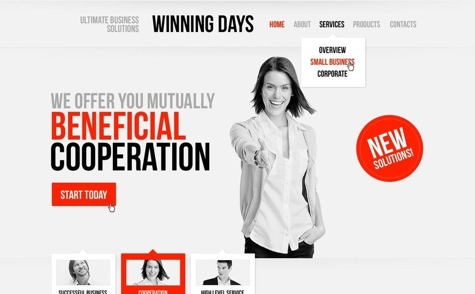 Template Photoshop  para Sites de Consultoria №57091 New Screenshots BIG