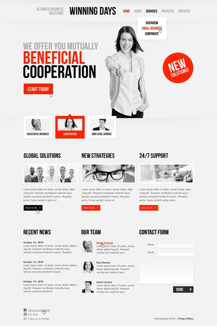 ADOBE Photoshop Template 57091 Home Page Screenshot