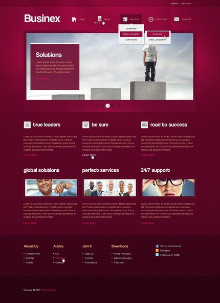 ADOBE Photoshop Template 57092 Home Page Screenshot