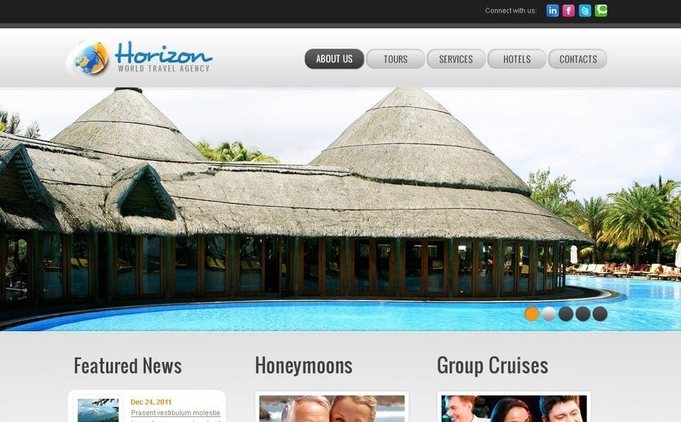 Szablon PSD #57093 na temat: biuro podróży i turystyki New Screenshots BIG