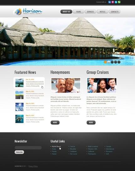 ADOBE Photoshop Template 57093 Home Page Screenshot
