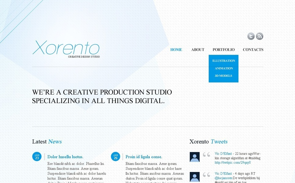 Modèle PSD  pour site de studio de design New Screenshots BIG