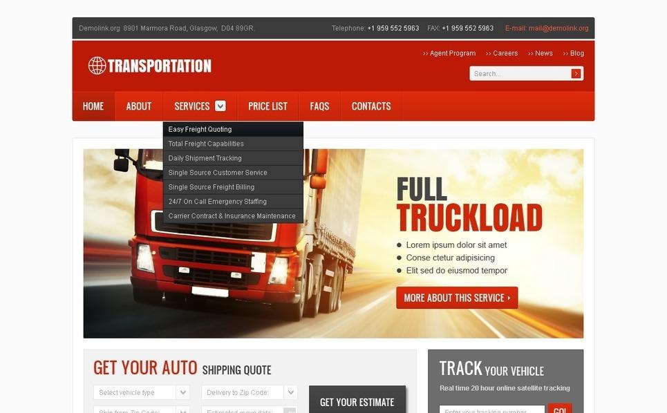 Szablon PSD #57096 na temat: transport ładunków New Screenshots BIG